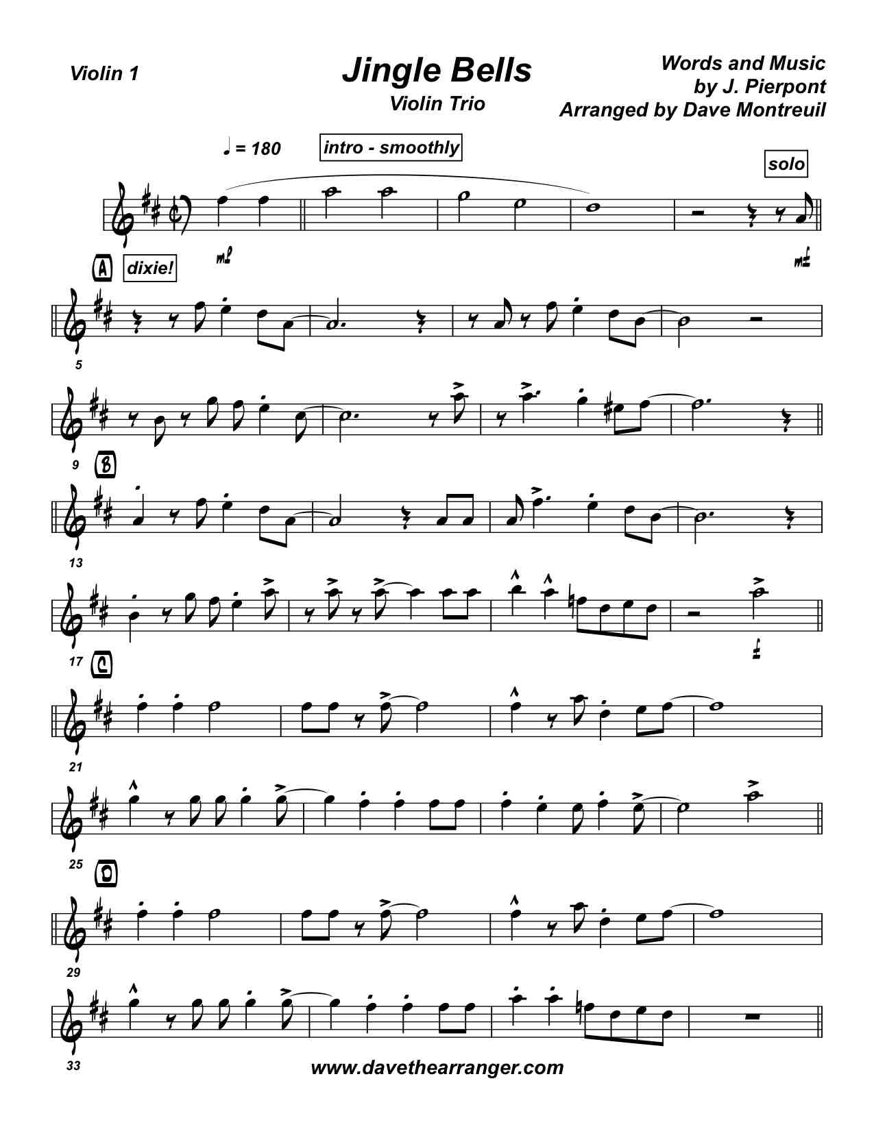 Jingle bells violin sheetmusic2printcom picture pictures